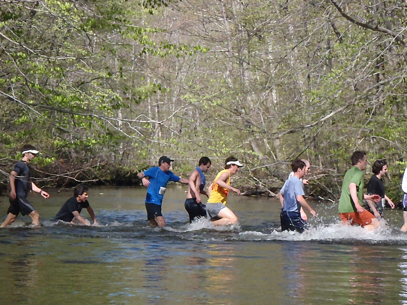 First water crossing during 2011 Loop. Rob McGill in blue shirt.