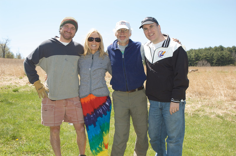 Race directors taking a break from planning and setting up the 2010 Loop in the Meadow. Mike Paletta, Kate Paletta, Tony Godino, Rob Cummings.