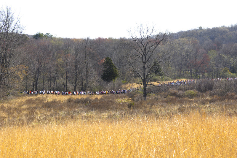 2009 Loop - entering the woods after the Meadow Start.